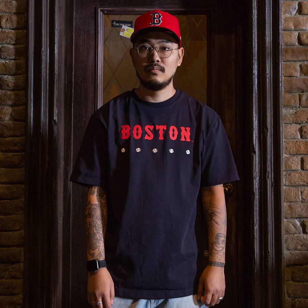 T-SHIRT MLB BOSTON RED SOX HERITAGE NAVY OVERSIZED