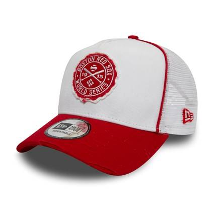 12040159 MLB TRUCKER BOSTON RED SOX WS PATCH 1915 WHITE/RED CAP