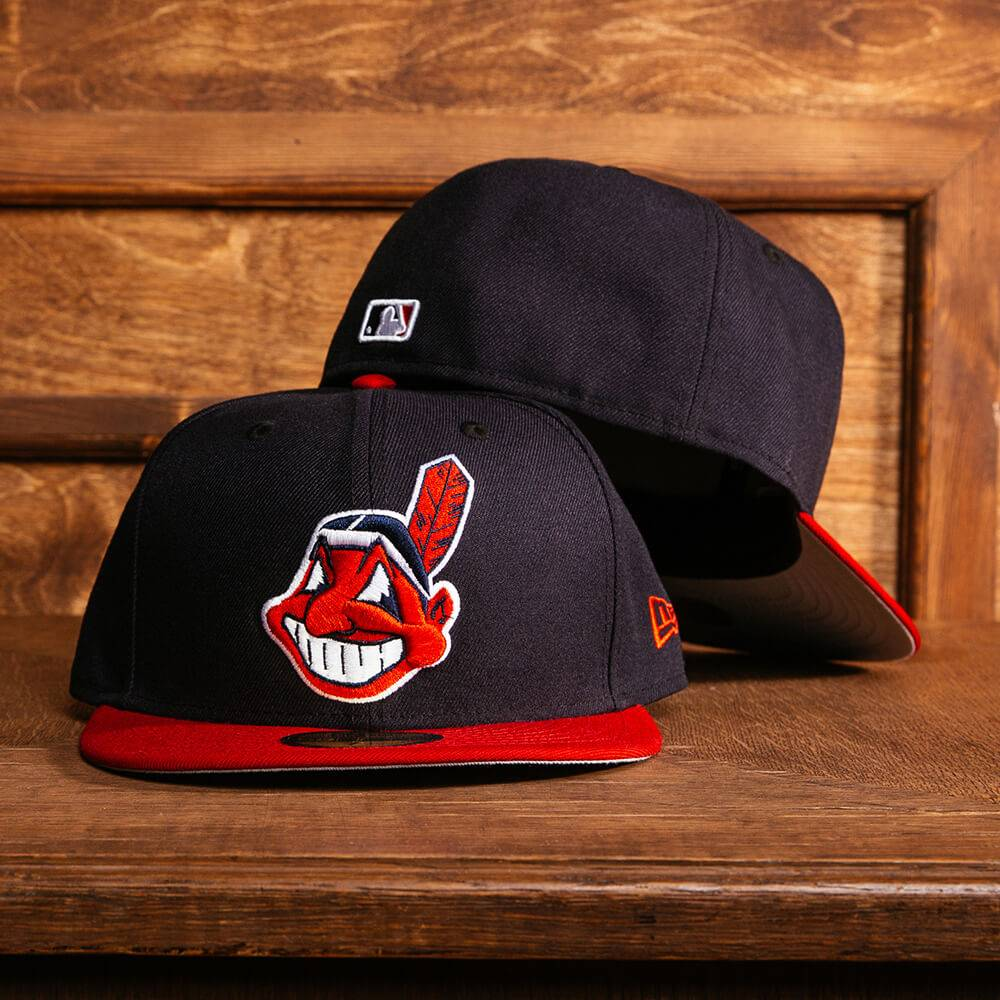 59fifty mlb cleveland undians chief wahoo two tone fitted cap