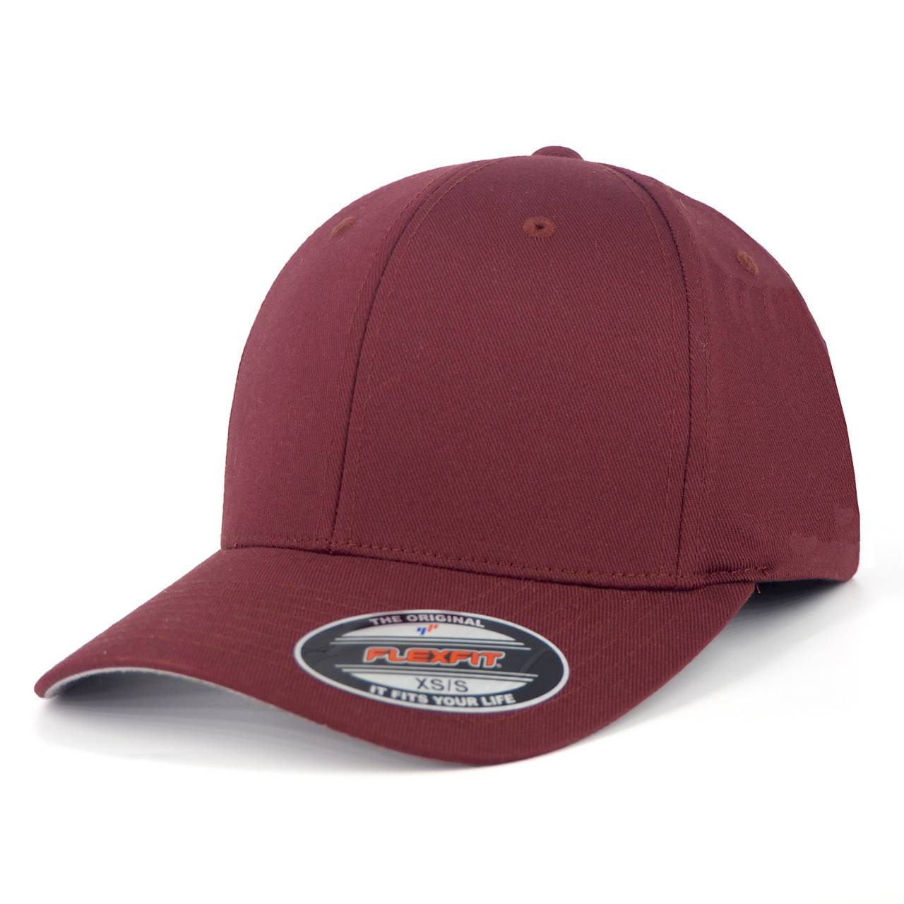 6277-00150-00 FLEXFIT WOOLY COMBED MAROON BLANK CAP